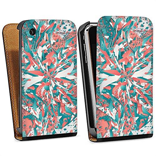 Apple iPhone 4 Housse Étui Silicone Coque Protection Couleurs Explosion Cristaux Sac Downflip noir