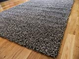 Soft Touch Shaggy Charcoal Thick Luxurious Soft 5cm Dense Pile Rug. Available in 7 Sizes (120cm x 170cm)