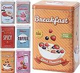 Aufbewahrungs Box Blech box in 6 Designs 6010 Variation