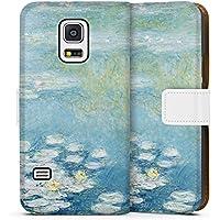 Samsung Galaxy S5 mini Tasche Leder Flip Case Hülle Seerosen Claude Monet Kunst
