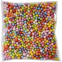 Dosige Bolitas de Espuma,Material DIY,Craft Espuma Partículas,Relleno para Slime 1300-1400PCS Size 7-9mm (Coloreado/M)