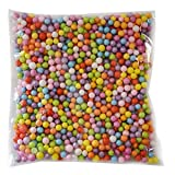 Da.Wa 1 Pakete Polystyrol Styropor Perlen Kleine Schaum Bälle Slime Perlen Fit für Slime Making Art DIY Handwerk, Dia 7-9mm Approx1300-1400 Bälle, Mischfarbe