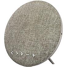 Soundance 12W Bluetooth Lautsprecher Mit integriertem Freisprech-Mikrofon, LED-Anzeige, Musikwiedergabe direkt von Micro SD/TF Karte und USB-Stick, 3,5 mm Audio-Eingang (Line-In) Modell F6 (grau)