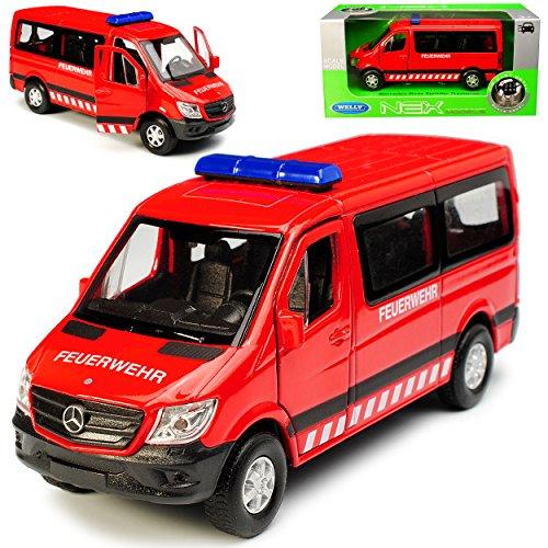 alles-meine.de GmbH Mercedes-Benz Sprinter W906 Personen Transporter Rot Feuerwehr Modell 2006 Ab Facelift 2013 ca 1/43 1/36-1/46 Welly Modell Auto