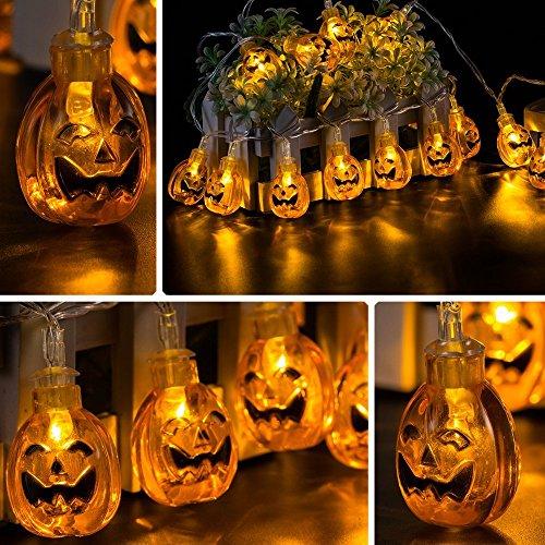 20 luci della stringa della zucca di halloween luci a led alimentate a pile alimentate dalle batterie aa 3pcs per diy halloween/decorazione di natale