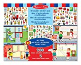 Melissa & Doug 19114 Reusable Sticker Pad: My Town - 200+ Stickers and 5 Scenes