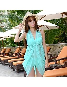 HAN-NMC Señora en traje de baño del traje de baño, luz verde,L