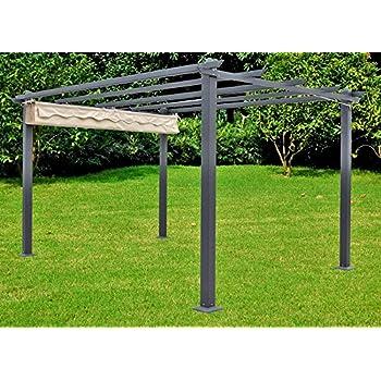 Garten Sonnenschutz amazon de garten pavillon terrasse überdachung sonnendach markise