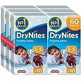 Huggies DryNites Boys Pants 3-5 Years, Designs May Vary - 6 Packs (Total 6 x 10 Pants)