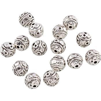 50 Metallperlen Spacer 6mm Silber Zwischenteile Schmuckherstellung Basteln F367