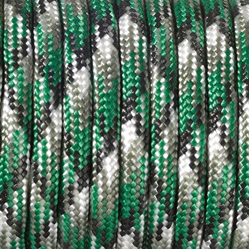 Paracord 4 mm x 50 m Vert/multicolore