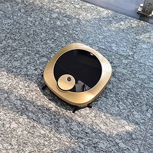 JJYJQR Vacuum Cleaner Robot Vacuum Cleaner For Home Automatic Smart Planned Wifi App Control 2200Mah Li Battery,Rose Gold