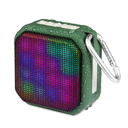 Preisvergleich Produktbild OG-EVKIN Bluetooth-V4.2-Lautsprecher, tragbar, kabellos, 10 m Bluetooth-Reichweite & integriertes Mikrofon, Stoff-Design, Stereo, doppelte Lautsprecher