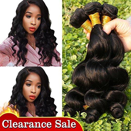 Haar Indisches Bundles (Yavida Hair 7A Brazilian Loose Wave Cheap 3 Bundles Brazilian Remy Human Virgin Hair Beauty Cheap Human Hair Extensions 50 55 60 cm)