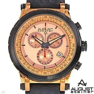 August Steiner Hommes Mouvement Suisse Chronographe Date Montre - Modèle AS8014RG