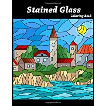 Stained Glass Coloring Book: Art Nouveau Coloring For Adults/Kids