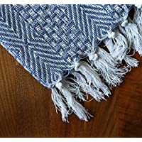 RAJRANG BRINGING RAJASTHAN TO YOU Blue Throw Sofa Blanket- Soft and Warm Living Room Couch Throws for Bad - 152x127 cm
