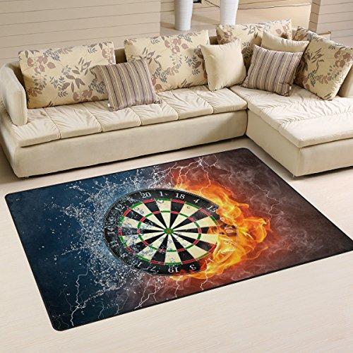 COOSUN Dart Board Area Teppich Teppich Griffige Bodenmatte Fußmatten Wohnzimmer Schlafzimmer 31 x 20 Zoll 31 x 20 Zoll Multi