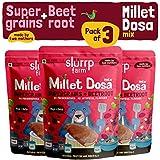 Slurrp Farm Millet Dosa Mix : Supergrains and Beetroot (Pack of 3)