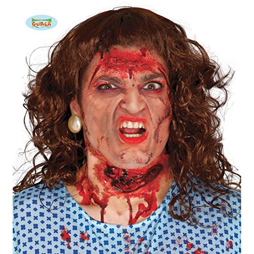 NET TOYS Latexwunde Kehlschnitt durchgeschnittene Kehle Halloween Latex Wunde Make Up Narbe
