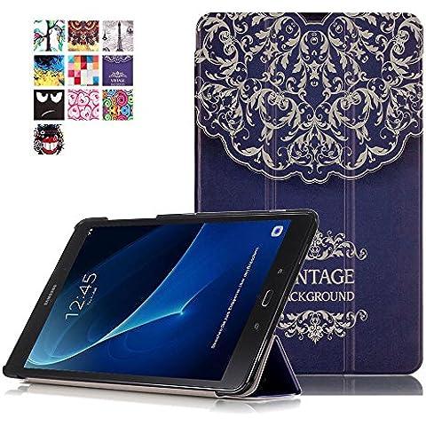 Funda Galaxy Tab A 10,1'',Carcasa para Tab A6 2016,Smart Case Funda Protección Stand Folio Cover Carcasa para Samsung Galaxy Tab A6 10.1'' SM-T580N / SM-T585N Tablet,Flores
