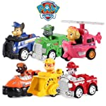 Ngel Paw Patrol Sea Patrol Racers Choice 6-Pack Vehicle Gift Set, Chase, Marshall, Rocky, Rubble, Skye & Zuma