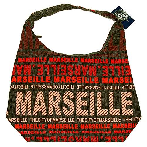 Robin Ruth - Sac City Marseille 48 x 37 cm - Couleur : Marron, Rouge