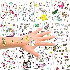 Konsait 300pcs Unicornio Tatuajes temporales