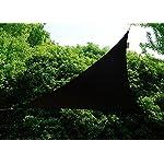 Kookaburra Wasserfest Sonnensegel Schwarz Wasserabweisend Imprägniert Wetterschutz 98% UV Schutz für Garten Terrasse und…
