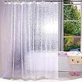Tenda da doccia antifungo impermeabile per bagno, 3D Water Cube 71 x 71 pollici [180 x 180 cm] 12 fori EVA anti-batterico anti-muffa vasca da bagno tenda da doccia