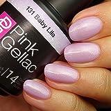 Pink Gellac 131 Baby Lila UV Nagellack. Professionelle Gel Nagellack shellac für mindestens 14 Tage perfekt glänzende Nägel