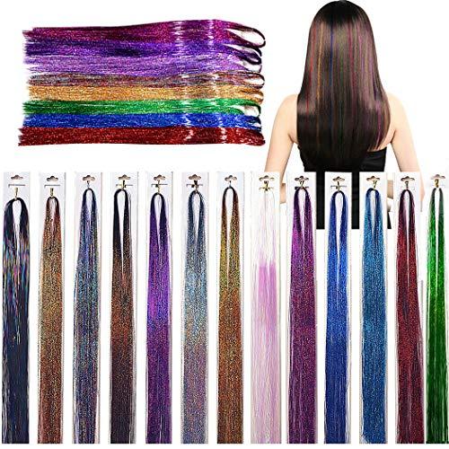 Kapmore 13pcs Extension de Cheveux Décoratif Synthétique Postiche Synthétique Postiche