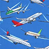 Dunkelblauer Stoff mit Flugzeugen von Timeless Treasures