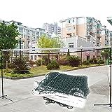 Demiawaking Rete di Badminton Standard Rete Multifunzione a Maglia Quadrata per Formazione Professionale (Verde)