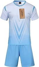 Lixada Fußball Trikots Set Professional Erwachsene/Kinder Breathable Fußball Set Fußball Trikots Uniformen Kinder Fußball Kit Shirt Trainingsanzug