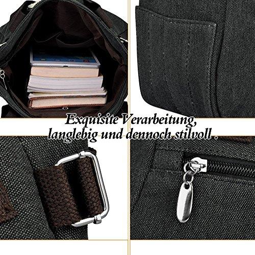 Honeymall Donne Canvas Handbag Vbiger Borse da Donna in Tela Gatto Carino Borse a Spalla Blu