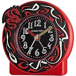 Jacques Farel ACT 344 - Reloj despertador juvenil (sin ruido), diseño de dragón, color rojo