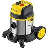 Stanley SXVC20XTE Nat- en droogzuiger met stopcontact voor elektrisch gereedschap (1400 W, 20 l)