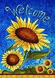 Toland Home Garden Süße Sonnenblumen, Blau/Gelb, 31.75x45.72x0.1 cm