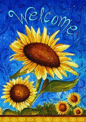 Toland Home Garden Sweet Sunflowers 28 x 40-Inch Decorative USA-Produced House Flag