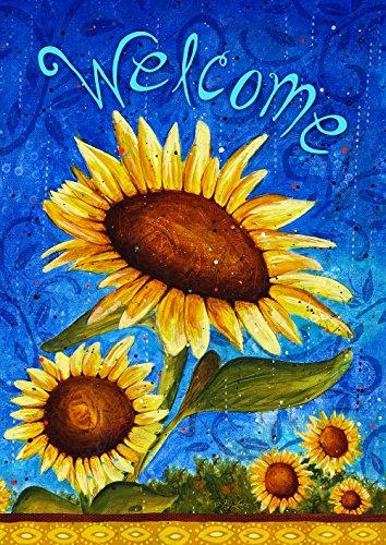 Toland Home Garden Süße Sonnenblumen, Blau/Gelb, 71.12x101.6x0.1 cm (Flagge Helle Gelbe Blaue Und)