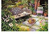 CYKEJISD Malen Nach Zahlen Handwerk DIY 3D Ruhige Gartenbank Handwerk Handwerk Dekor Wanddekoration DIY Malerei Auf Leinwand Für Wohnkultur