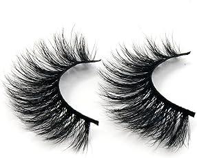 Arison Lashes 3D 100% Handgefertigte Künstliche Wimpern Pferd Haar Dicken Augen Falsche Wimpern (1 Paar)