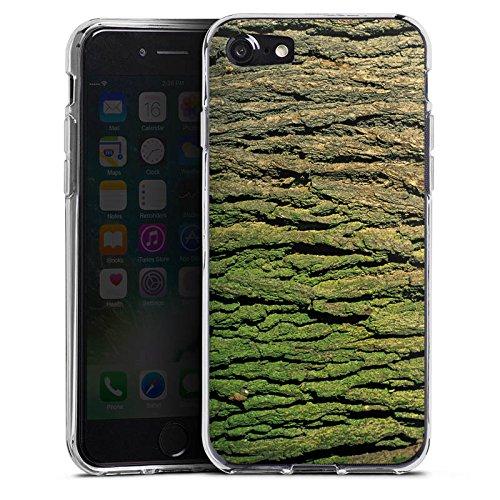 Apple iPhone X Silikon Hülle Case Schutzhülle Baumrinde Rinde Look Baum Holz Silikon Case transparent