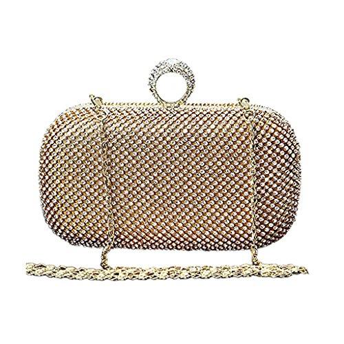 a4d1fe91a9016 BigForest Imitation Perle Strass Designer Damentasche Tasche Clutches  Handtasche Abendtasche Hochzeit tasche Golden Golden
