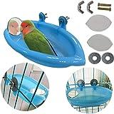 Supercat Comedero de baño de Tina de baño Tazón de Fuente de baño para pájaros Colgante de Aves Juguete para Mascotas Cockati
