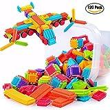 NEEDOON 120pcs Kleinkind Spielzeug Kunststoff Konstruktions Bausteine für Kinder Kreatives Spielzeug