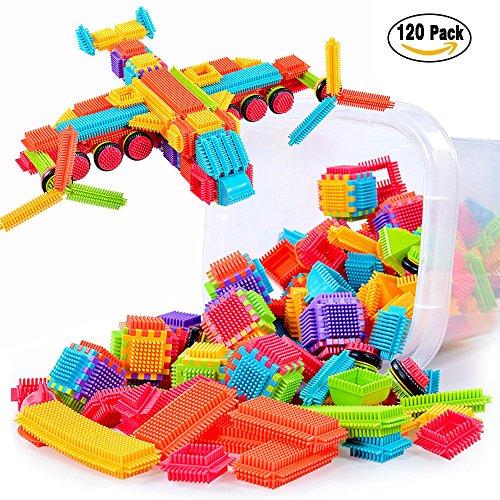 TOMOT 120pcs originalität ihrer erbauer blöcke spielen mit aufbewahrungsbox für kleinkinder kind mädchen jungen kinder (Nicht Mit Der Box)