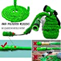Running bulls 50FT Expanding Garden Water Hose Pipe with 7 Function Spray Gun Expandable Flexible Magic Hose Anti-leakage Lightweight Easy Storage