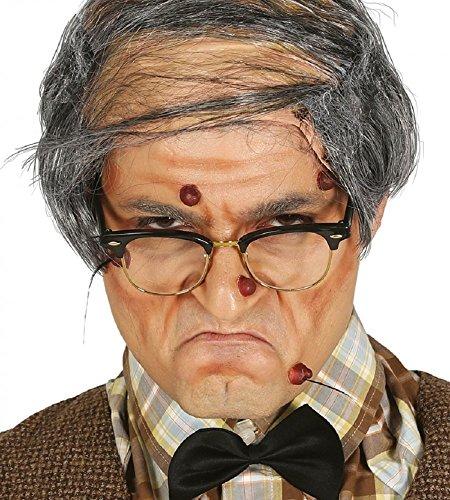 shoperama Set Latex Warzen mit Haaren Hexe Zauberin Zauberer Großmutter Großvater Oma Opa...